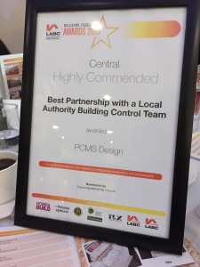 Pic of Highly Commended Cert at Ceremony 2015