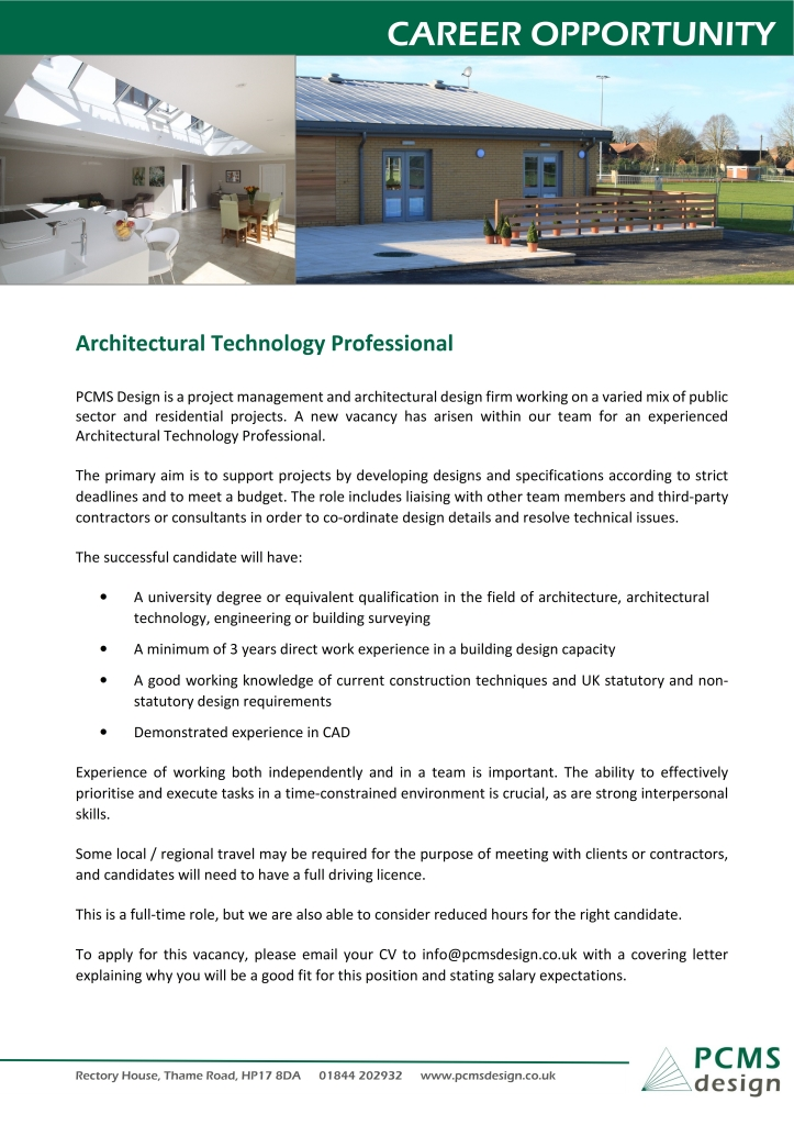 PCMS Design - CIAT Job Advert for Mailshot 06-04-16_001